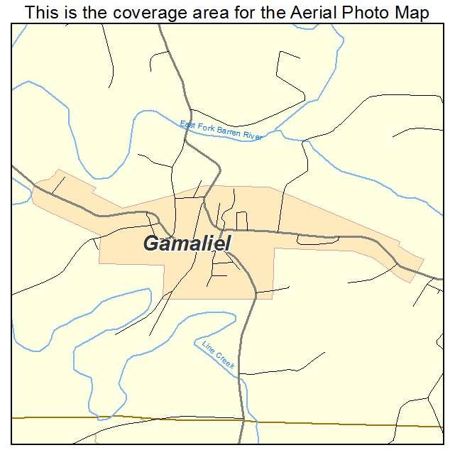 Gamaliel, KY location map