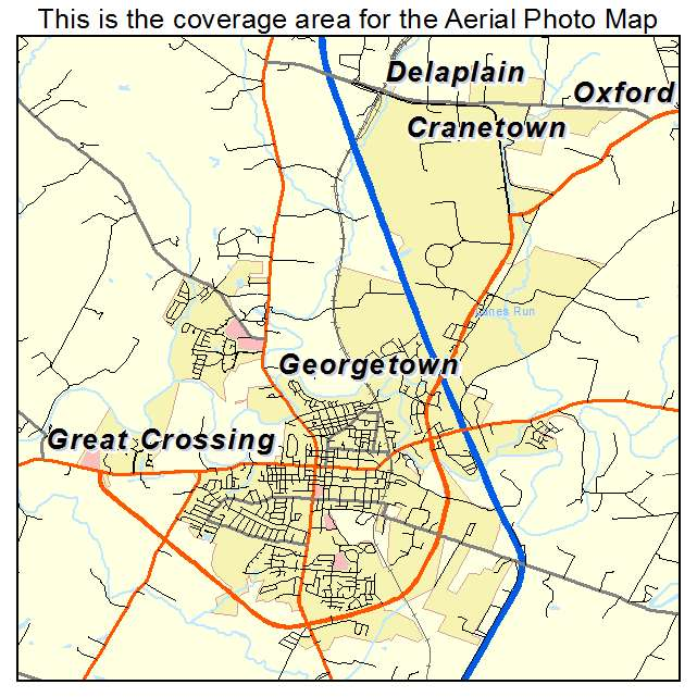 Georgetown, KY location map