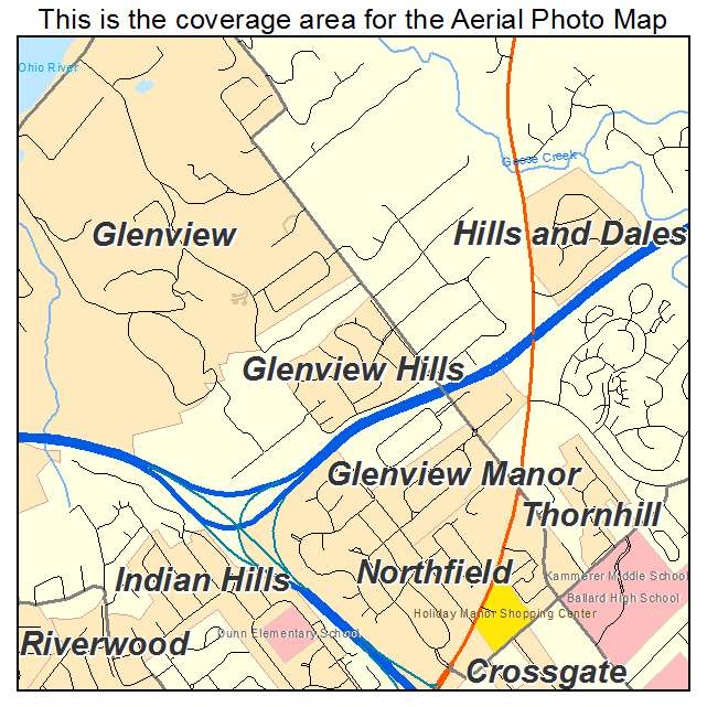 Glenview Hills, KY location map