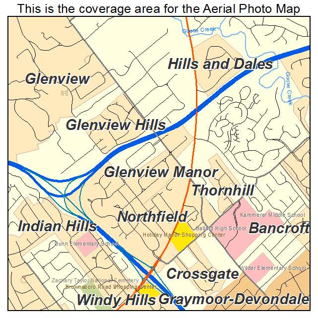 Glenview Manor, KY location map