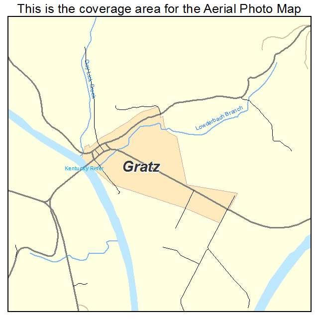Gratz, KY location map