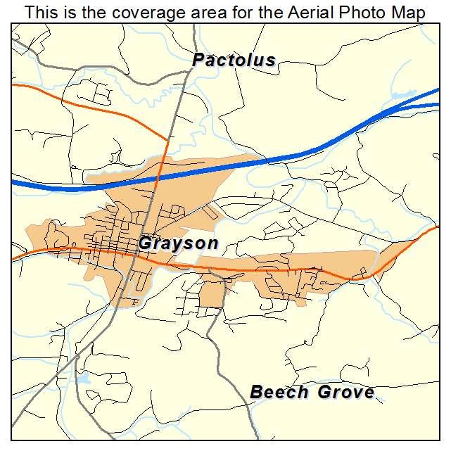 Grayson, KY location map