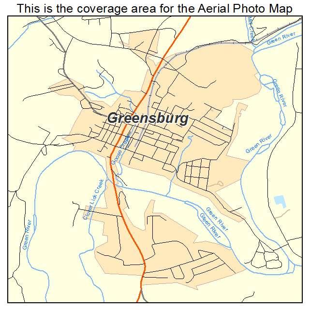 Greensburg, KY location map