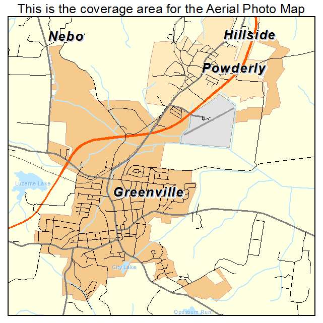 Greenville, KY location map