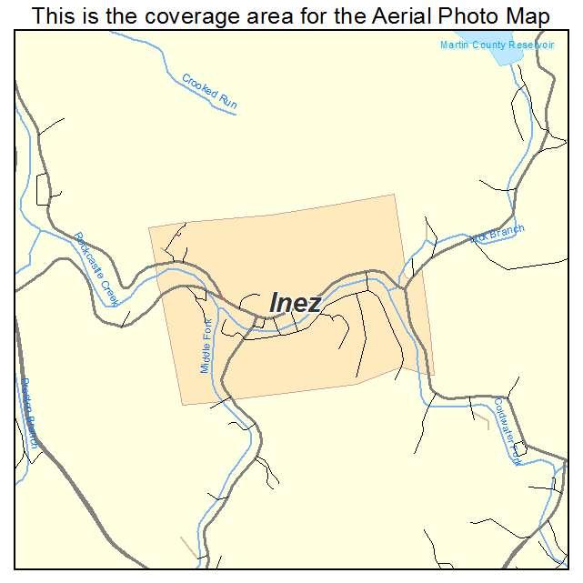 Inez, KY location map