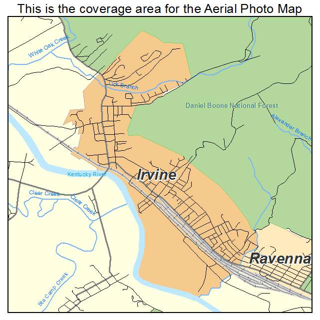 Irvine, KY location map