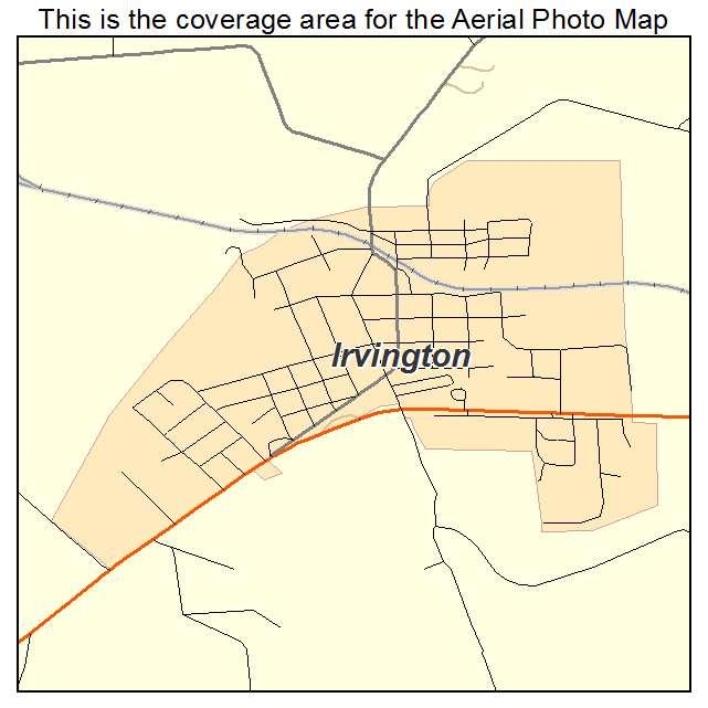 Irvington, KY location map