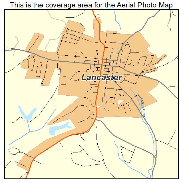 Aerial photography map of lancaster ky kentucky lancaster ky location map publicscrutiny Choice Image