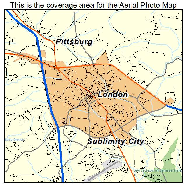 London Ky Map Aerial Photography Map of London, KY Kentucky