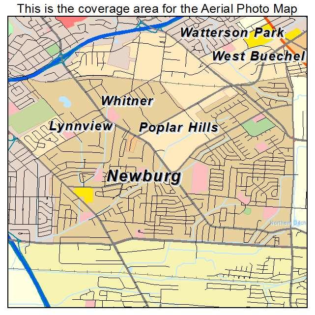 Newburg, KY location map