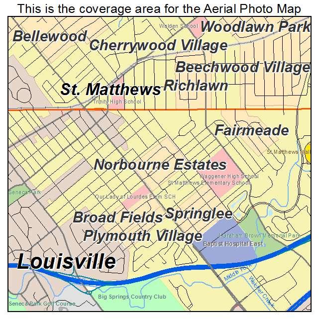 Norbourne Estates, KY location map