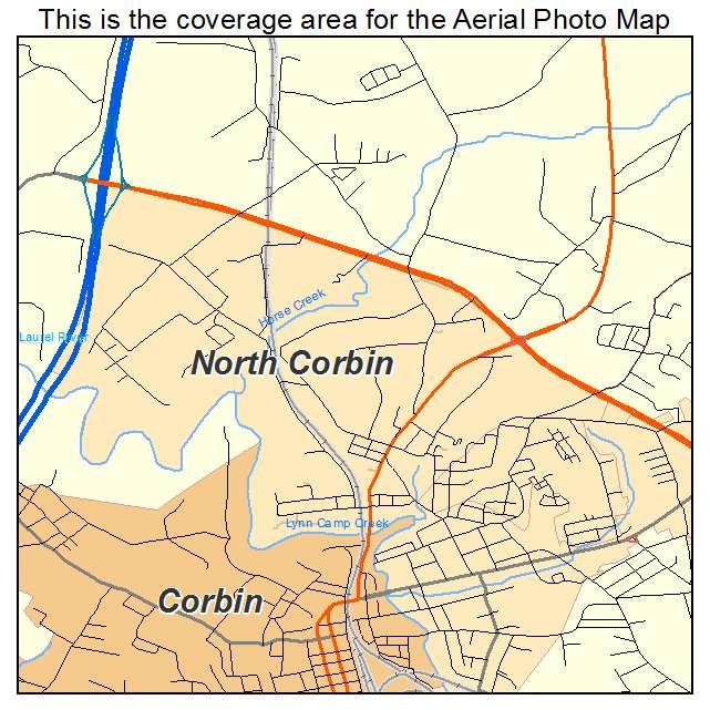 North Corbin, KY location map