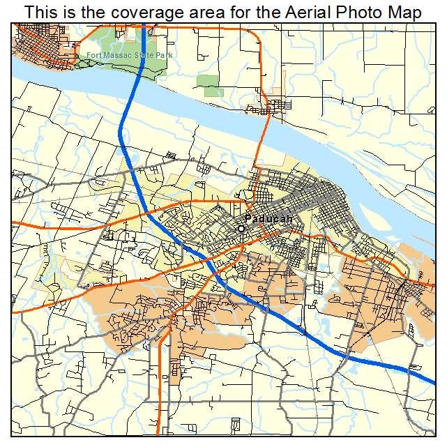 Aerial Photography Map Of Paducah KY Kentucky - Paducah ky map