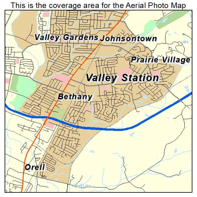 Valley Station, KY location map