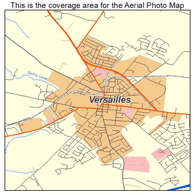 Versailles, KY location map