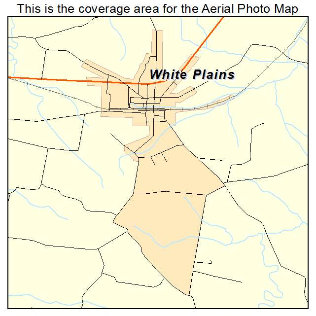 Aerial Photography Map of White Plains KY Kentucky