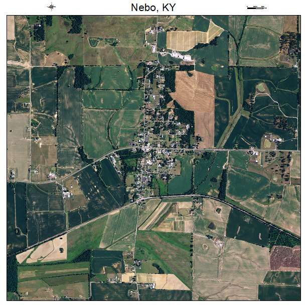 Nebo, KY air photo map