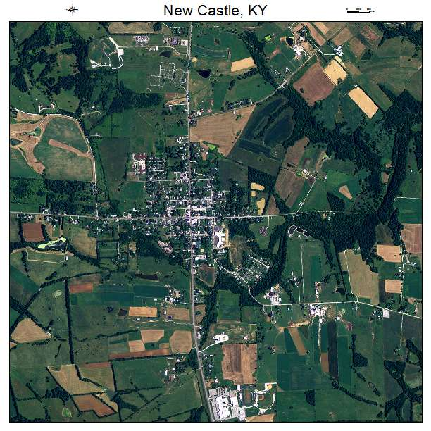 New Castle, KY air photo map