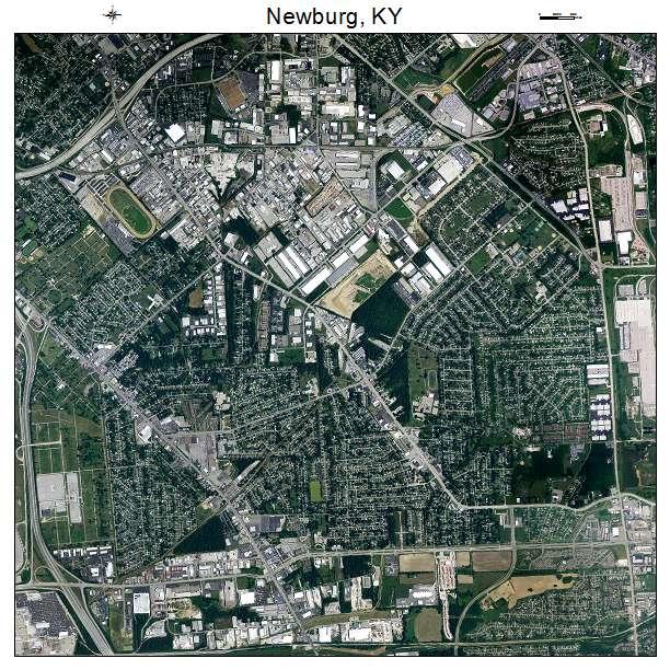 Newburg, KY air photo map