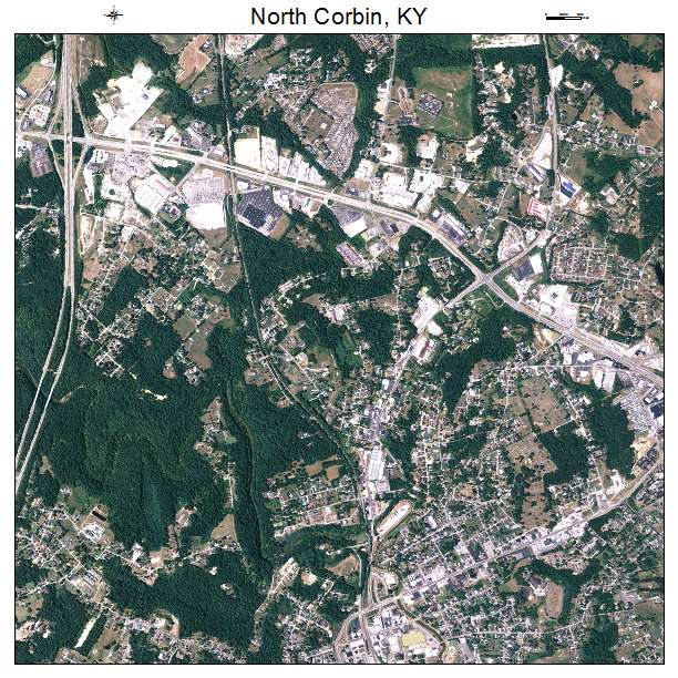 North Corbin, KY air photo map