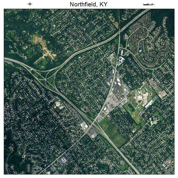 Northfield, KY air photo map