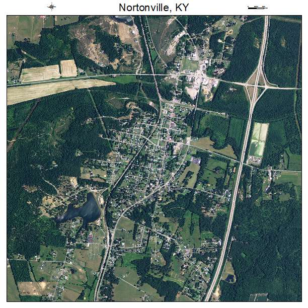 Nortonville, KY air photo map