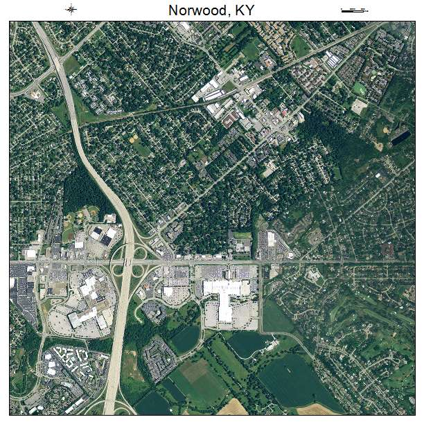 Norwood, KY air photo map