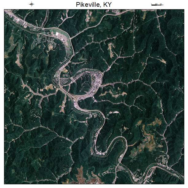 Pikeville, KY air photo map