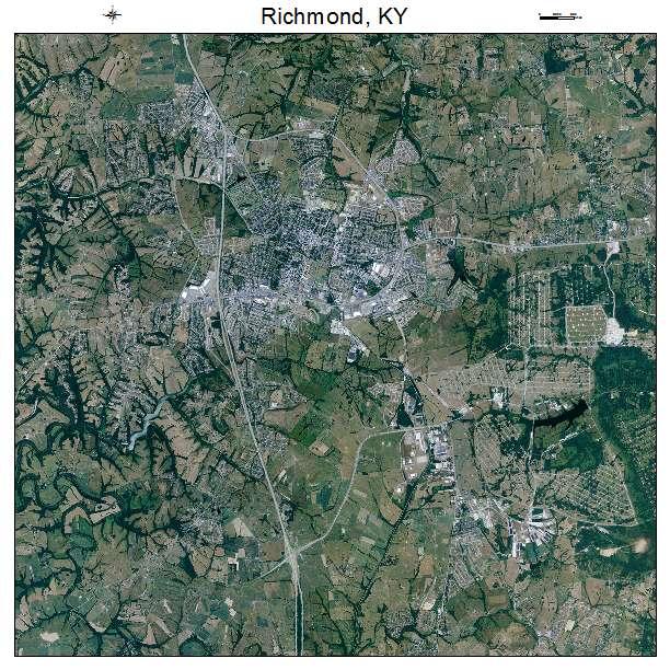 Richmond, KY air photo map