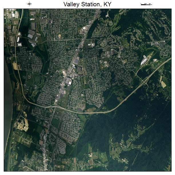 Valley Station, KY air photo map