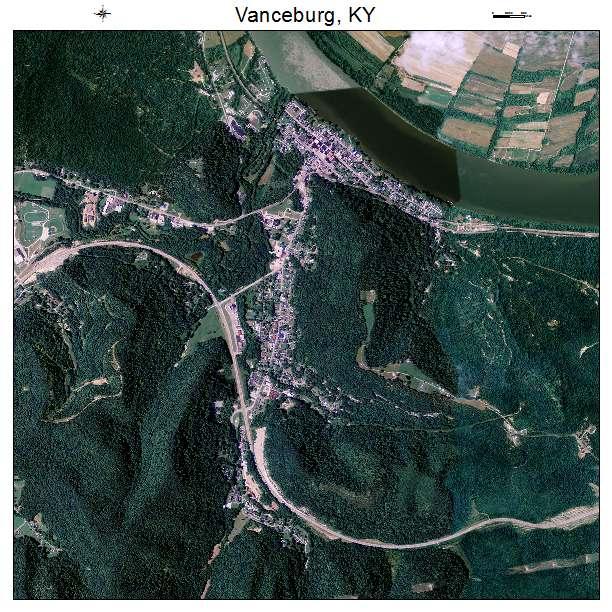 Vanceburg, KY air photo map