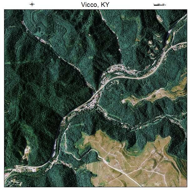 Vicco, KY air photo map