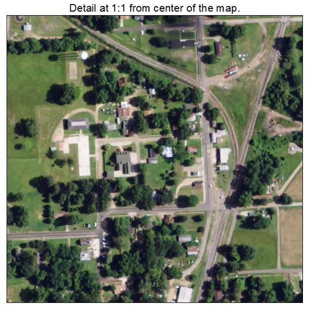 Collinston, Louisiana aerial imagery detail
