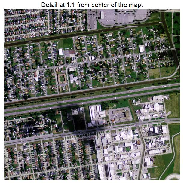 Aerial Photography Map of Kenner LA Louisiana