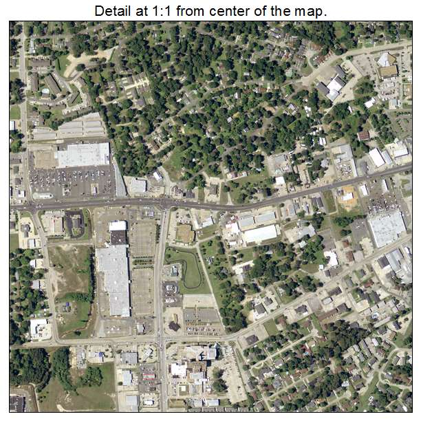 West Monroe, Louisiana aerial imagery detail