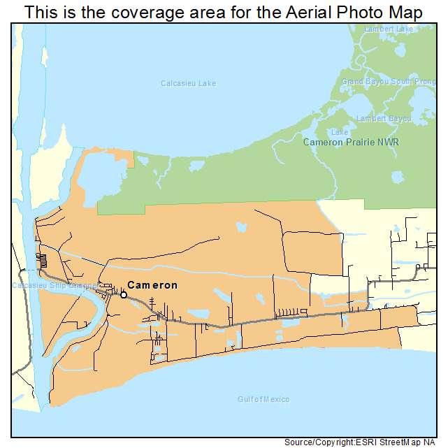 Cameron, LA location map