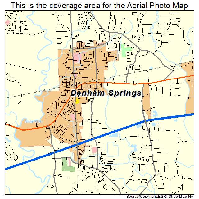 Denham Springs, LA Louisiana Aerial Photography Map 2015 on head of island la map, slidell la map, scott la map, de ridder la map, st. martinville la map, camp beauregard la map, west feliciana parish la map, franklinton la map, saint francisville la map, saint amant la map, metairie la map, florida la map, algiers la map, lafayette la map, farmerville la map, lake pontchartrain la map, st. francisville la map, tickfaw la map, washington la map, napoleonville la map,