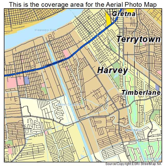 Harvey Louisiana Map.Aerial Photography Map Of Harvey La Louisiana