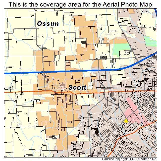Aerial Photography Map of Scott, LA Louisiana