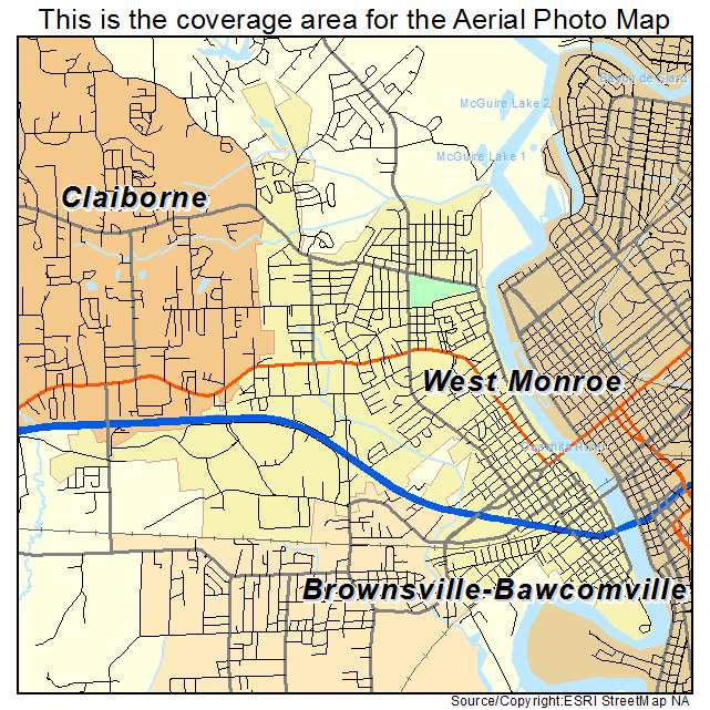 West Monroe, LA location map