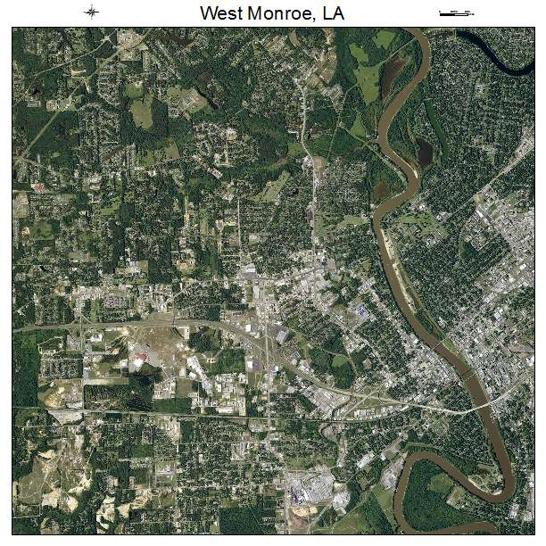 West Monroe, LA air photo map