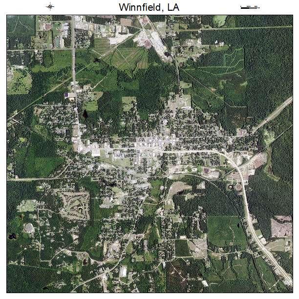 Winnfield LA Aerial Map