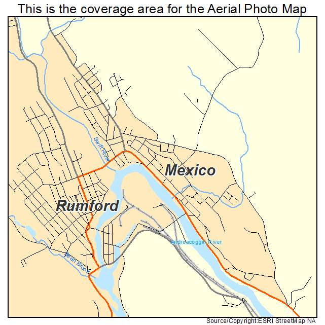 Mexico Maine Map.Aerial Photography Map Of Mexico Me Maine