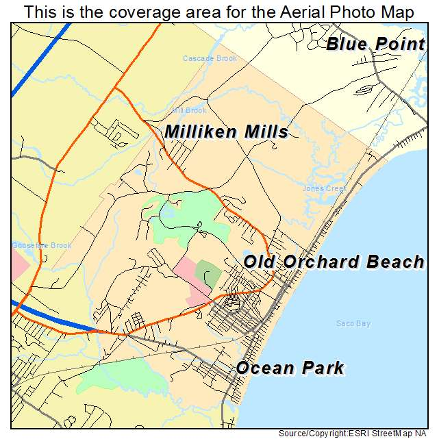Old Orchard Beach Map