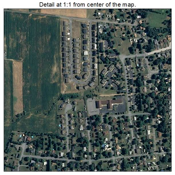 Maugansville, Maryland aerial imagery detail