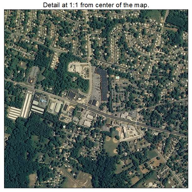 Randallstown, Maryland aerial imagery detail