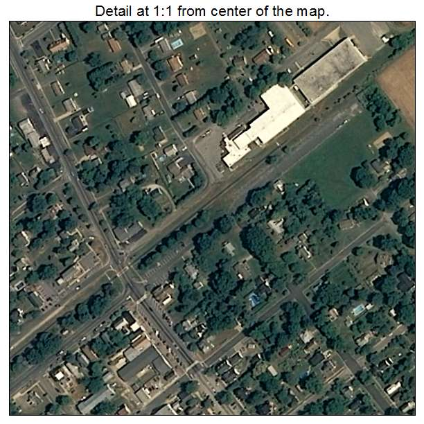 Ridgely, Maryland aerial imagery detail