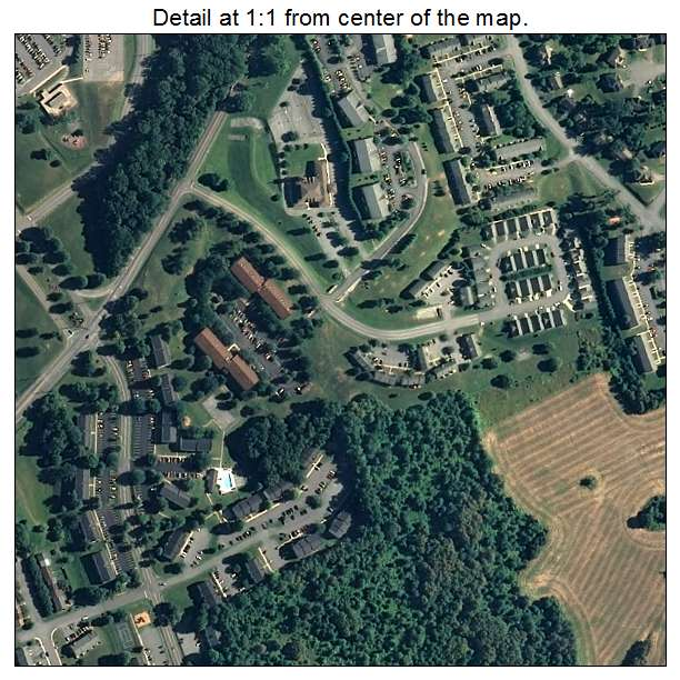 Robinwood, Maryland aerial imagery detail