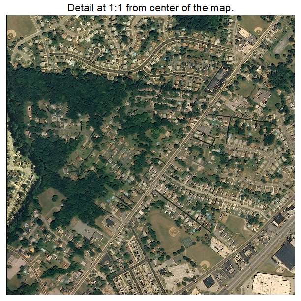 Rosedale, Maryland aerial imagery detail