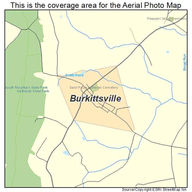 Burkittsville Maryland Map